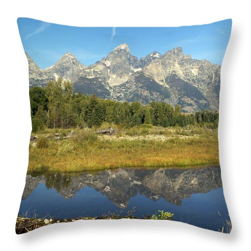 Grand Teton National Park Throw Pillow featuring the photograph Teton 5 by Marty Koch