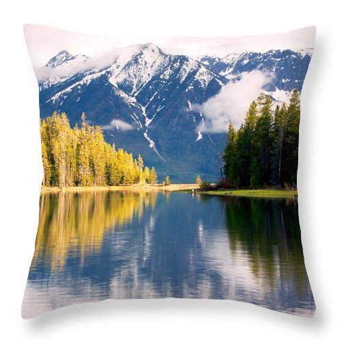 Wyoming Throw Pillow featuring the photograph Teton Beauty by Amanda Kiplinger