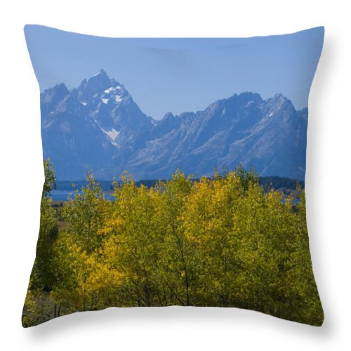 Teton Throw Pillow featuring the photograph Teton Range by Idaho Scenic Images Linda Lantzy