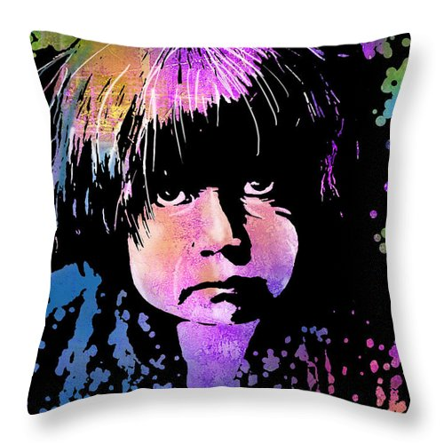 Native Americans Throw Pillow featuring the painting Tewa Child by Paul Sachtleben