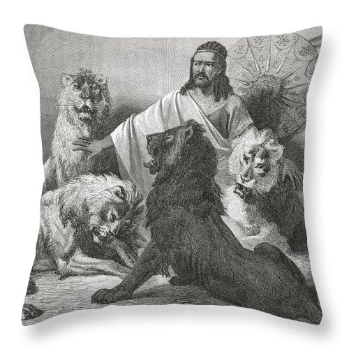Tewodros Throw Pillow featuring the photograph Tewodros Holding Audience, Surrounded by Ken Welsh