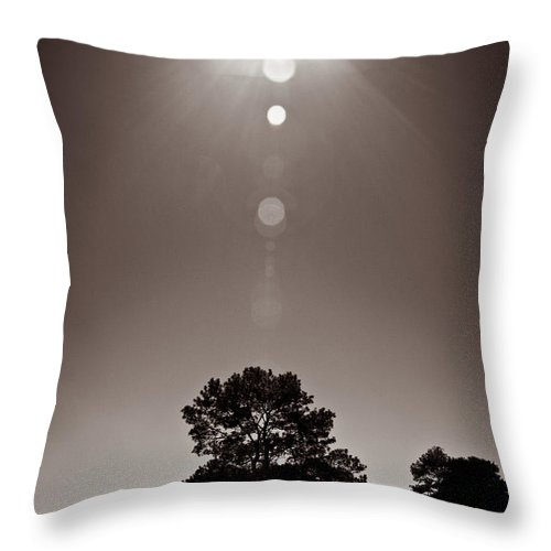 Texas Throw Pillow featuring the photograph Texan Sun by Dave Bowman