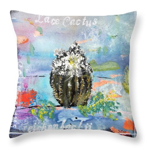 Series Throw Pillow featuring the painting Texas Wildflowers Tp A D by Michael Dillon