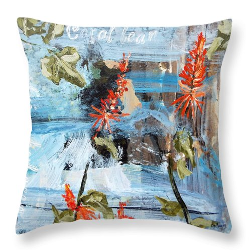 Series Throw Pillow featuring the painting Texas Wildflowers Tp Ab by Michael Dillon