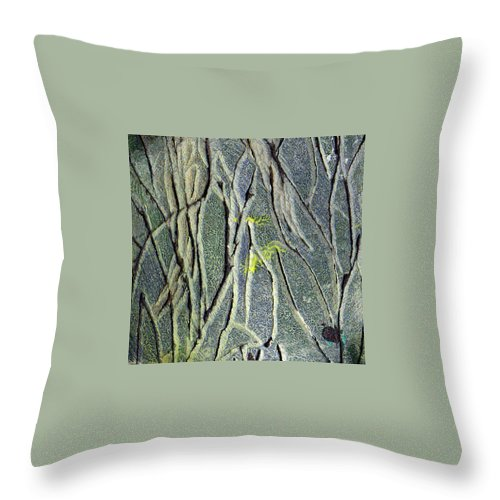 Abstract Throw Pillow featuring the painting Texture Study One  Entanglement by Wayne Potrafka