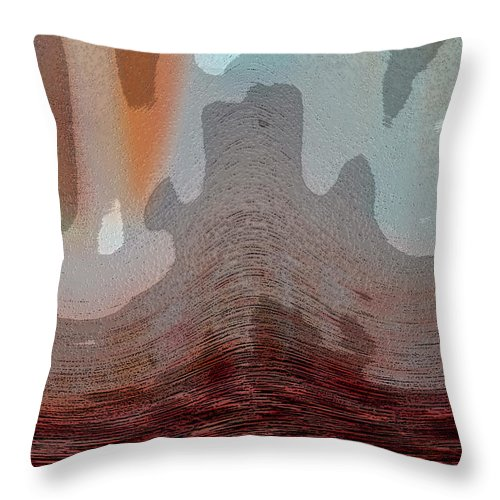 Abstracts Throw Pillow featuring the digital art Textured Waves by Linda Sannuti