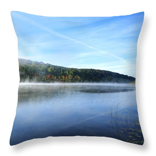 Water Throw Pillow featuring the photograph Textures by Tom Heeter