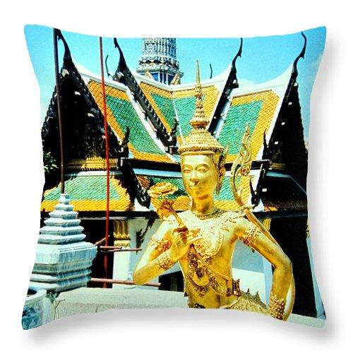 Bangcock Throw Pillow featuring the photograph Thailand by Ian MacDonald