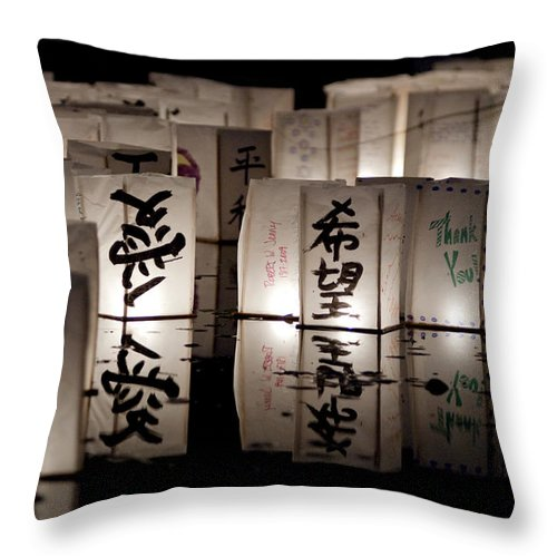 Lanters Throw Pillow featuring the photograph Thank You by Greg Fortier