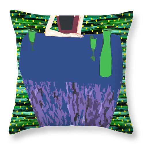 Birthday Throw Pillow featuring the painting That Sinking Feeling by Patrick J Murphy