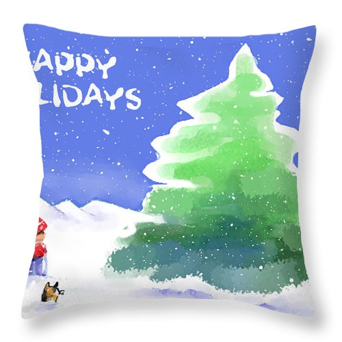 Throw Pillow featuring the digital art That's The One... by Arline Wagner