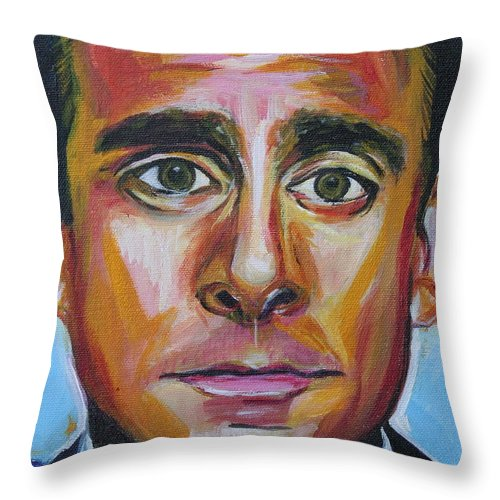 That's What She Said Throw Pillow featuring the painting That's What She Said by Kate Fortin