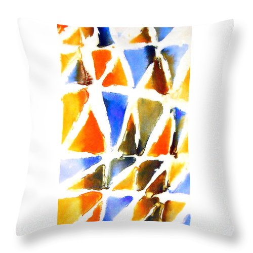 Abstract Colour Throw Pillow featuring the painting Thaw 21 by Jorge Berlato