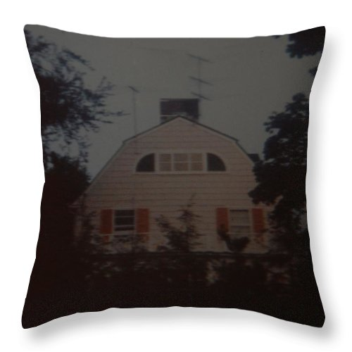 The Amityville Horror Throw Pillow featuring the photograph The Amityville Horror by Rob Hans