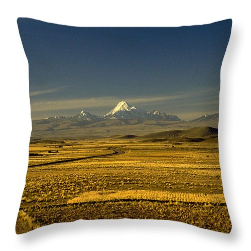 Latin America Throw Pillow featuring the photograph The Andes by Michael Mogensen