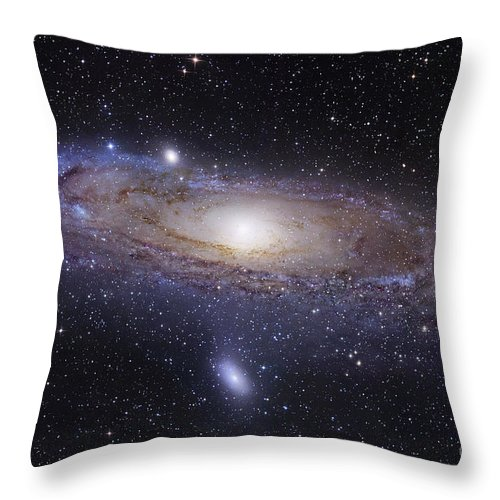 Andromeda Throw Pillow featuring the photograph The Andromeda Galaxy by Robert Gendler