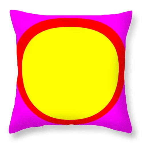 Square Throw Pillow featuring the digital art The Annunciation by Eikoni Images