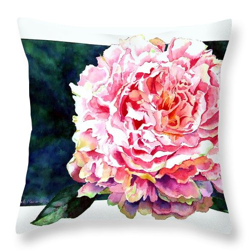 Peony Throw Pillow featuring the painting The Ant's Castle by Linda Marie Carroll