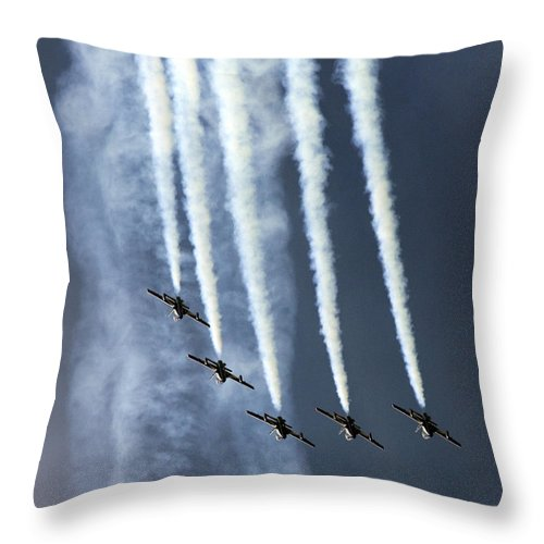 Frecce Tricolori Throw Pillow featuring the photograph The Arch by Angel Ciesniarska
