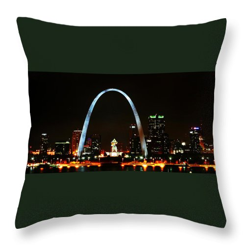 St Louis Throw Pillow featuring the photograph The Arch by Anthony Jones