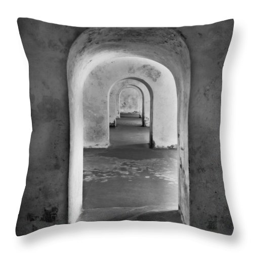 Arch Throw Pillow featuring the photograph The Arches 2 by Perry Webster