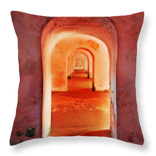 Arch Throw Pillow featuring the photograph The Arches by Perry Webster