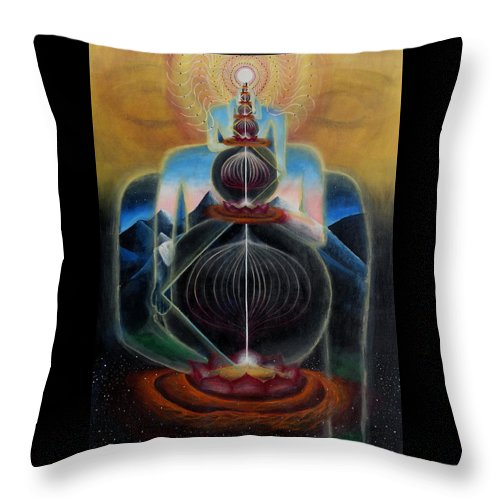 Visionary Throw Pillow featuring the painting the Art of Acceleration by Justin Struble