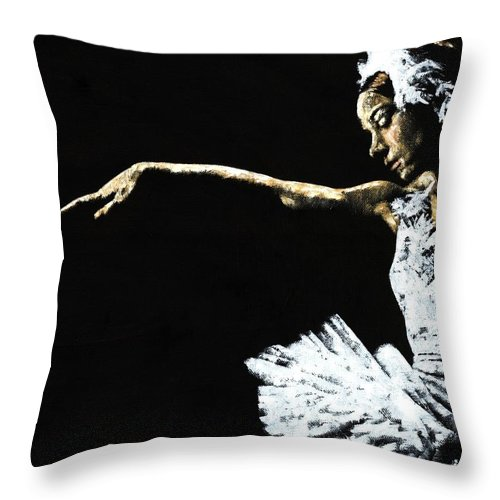 Ballet Throw Pillow featuring the painting The Art Of Grace by Richard Young