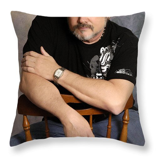 Clay Throw Pillow featuring the photograph The Artist by Clayton Bruster