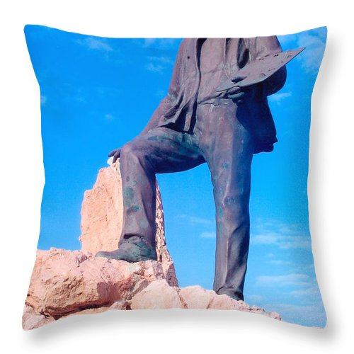 The Artist Statue Throw Pillow For Sale By John Hughes