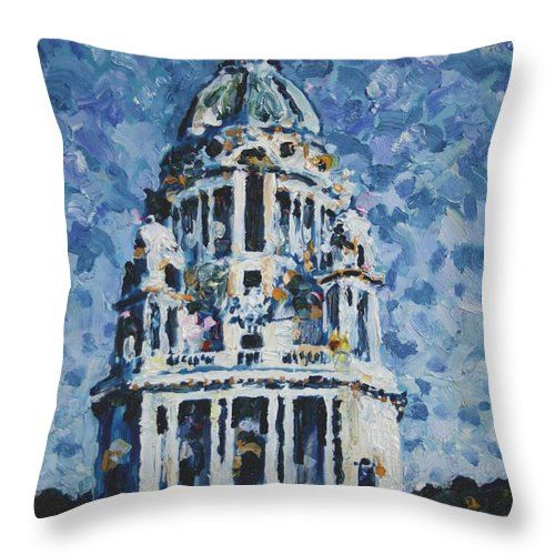 Ashton Memorial Throw Pillow featuring the painting The Ashton Memorial by Andy Mercer