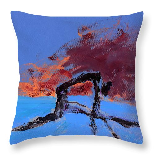 Athlete Throw Pillow featuring the painting The Athlete by Empowered Creative Fine Art