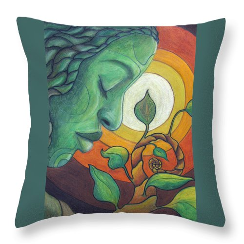 Nature Throw Pillow featuring the drawing The Awakening by Kimberly Kirk