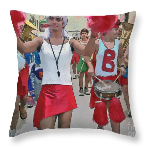Band Throw Pillow featuring the photograph The Band Played On... by Dee Flouton