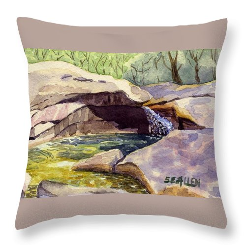 The Basin Throw Pillow featuring the painting The Basin by Sharon E Allen