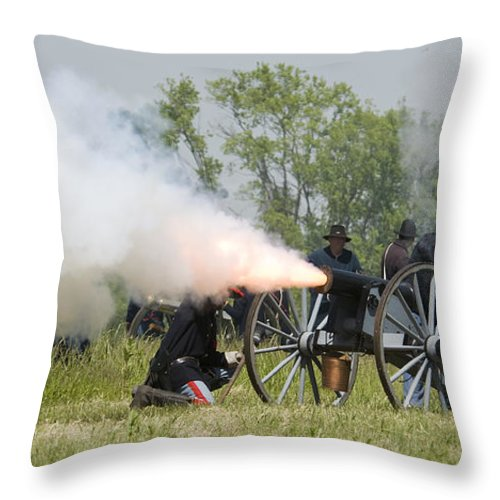 Battle Throw Pillow featuring the photograph The Battle by Chad Davis