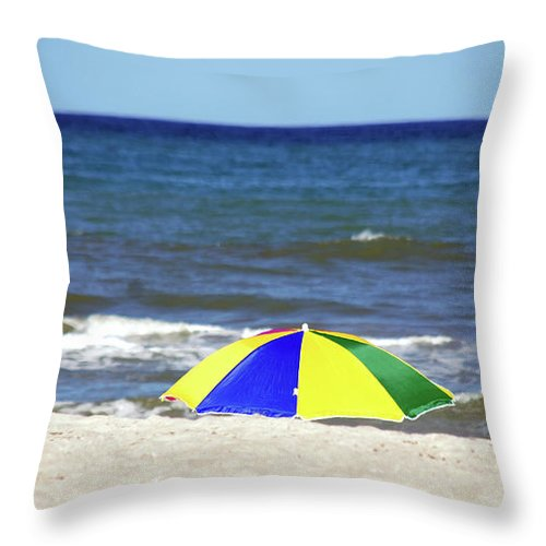 Beach Throw Pillow featuring the photograph The Beach Is Mine by Susanne Van Hulst