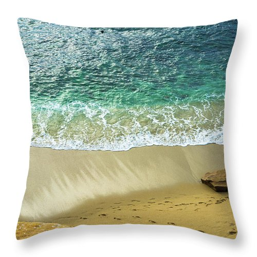 Beach Throw Pillow featuring the photograph The Beach by Moshe Levis