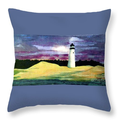 Fine Art Throw Pillow featuring the painting The Beacon by Patricia Griffin Brett