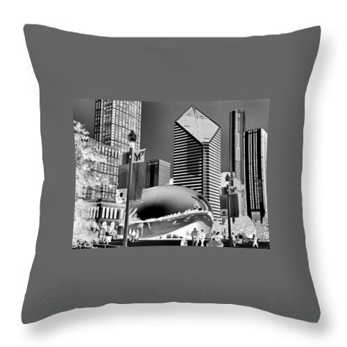 The Bean Throw Pillow featuring the photograph The Bean - 2 by Ely Arsha