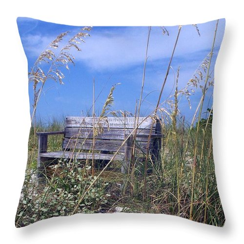 Bench Throw Pillow featuring the photograph The Bench by Robin Monroe