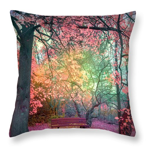 Bench Throw Pillow featuring the photograph The Bench That Dreams by Tara Turner