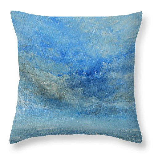 Abstract Throw Pillow featuring the painting The Best Is Yet To Come by Jane See