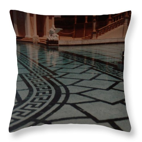 Sculpture Throw Pillow featuring the photograph The Biggest Pool by Rob Hans