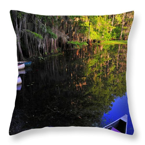 Skip Hunt Throw Pillow featuring the photograph The Black Lagoon by Skip Hunt