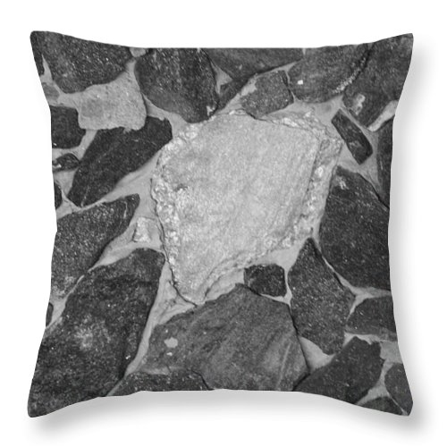 Black And White Throw Pillow featuring the photograph The Black Wall by Rob Hans