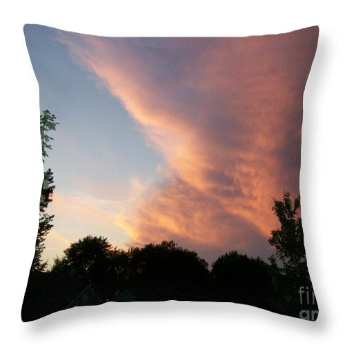 Sky Throw Pillow featuring the photograph The Blanket by Stephen King