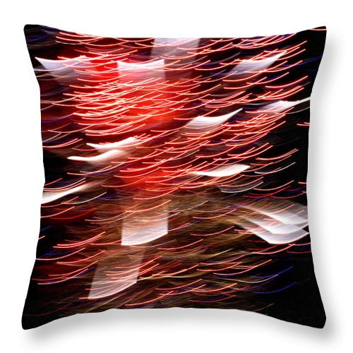 Abstract Throw Pillow featuring the photograph The Blender by David Dunham