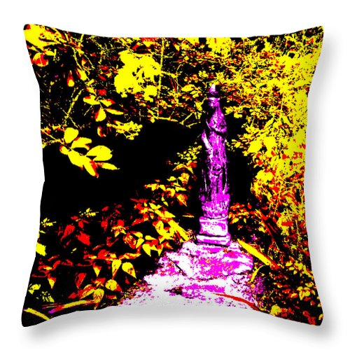 Square Throw Pillow featuring the digital art The Blessing by Eikoni Images