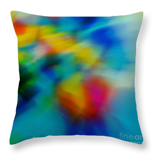 Abstract Throw Pillow featuring the painting The Blossom Within by Wbk